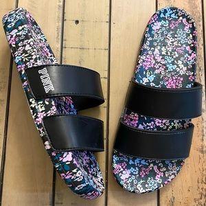 Victoria's Secret Pink Floral Slides Sandals 7-8 M